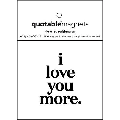 9 different Variations Quotable Magnets from Quotable Cards