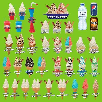 Twin /& Waffle Shermallow Whippy Ice Cream Cone Stickers Set of 3 Single
