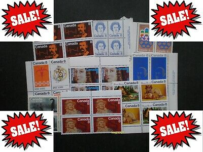Lot of 100 x 8¢ Vintage Stamps Mint with FULL Gum - 99¢ postage Canada