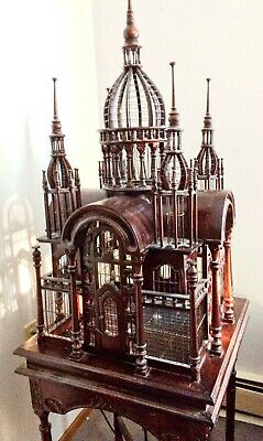 Price reduced! BeautifulLarge  Antique Victorian Style Carved Wood Bird Cage