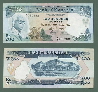 MAURITIUS 200 Rupees ND 1985 Pick # 39 *UNC