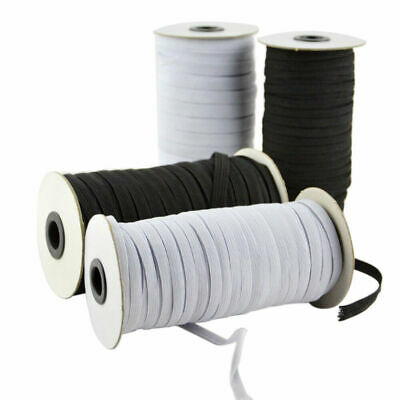 100/200 Yards Braided Elastic Band Cord Knit 3/6mm Stretch DIY Sewing In Stock