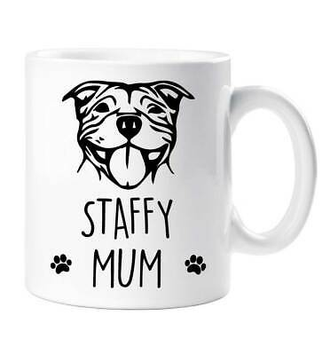 Staffordshire Bling Bling Tall Latte Mug A Great Gift For A Staffie Dogs Lover