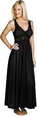 Shadowline Womens Plus-Size Silhouette Lace Bodice Sleeveless Waltz Gown Shadowline Sleepwear 37737X