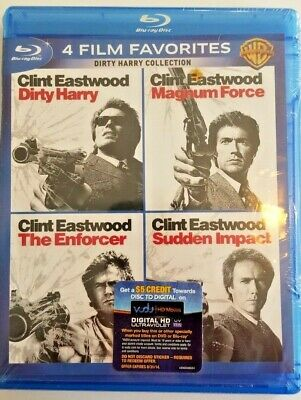 Dirty Harry Collection: 4 Film Favorites (Blu-ray Disc, 2014, Disc Set)