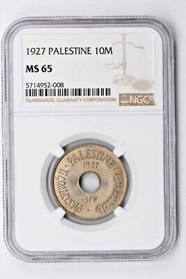 1927 Palestine 10 Mils NGC MS 65 Witter Coin