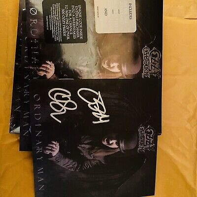 Ozzy Osbourne Ordinary Man Deluxe Softpack CD Signed Autographed CD Autopenned