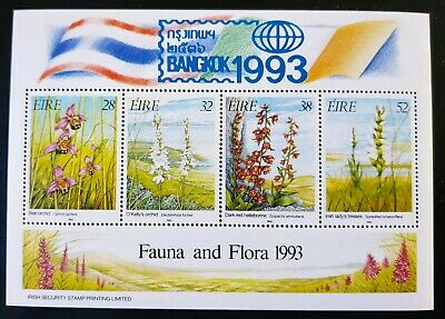 IRELAND 1993 IRISH ORCHIDS MINIATURE SHEET Overprinted 'BANGKOK '93' Exhibition