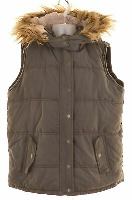 FAT FACE Girls Padded Gilet 12-13 Years Grey Polyester  MB10