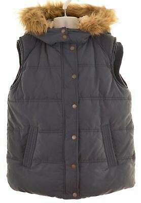 FAT FACE Girls Padded Gilet 12-13 Years Navy Blue Polyester  NM17