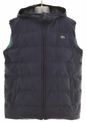 LACOSTE Boys Padded Gilet 11-12 Years Navy Blue Cotton  NM16