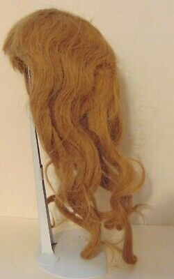 """Antique Doll Wig-Dirty Bl.-Human Hair-Size  10""""  Circumference.. 9"""" drop in back"""
