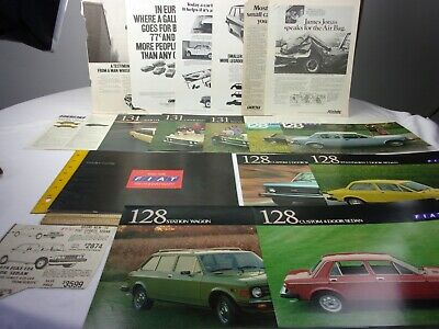 FIAT 131 128 Family cars 1974 magazine ads newspaper clippings car brochure F13