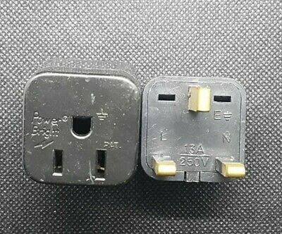 (2pcs/lot)Power Bright US To UK 3‑prong Travel Outlet Plug Adapter  13 Amp