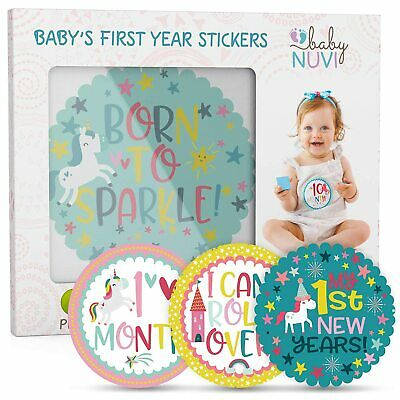 28 Pack Baby Monthly Milestone Stickers