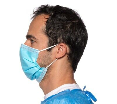 5, 10, or 20 Blue Disposable Medical Surgical Protection Dust Filter Face Masks