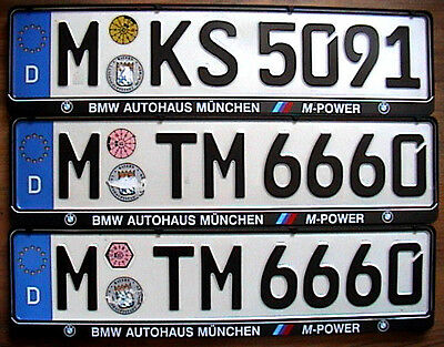 Munich 2018 License Plate Registration Seal for BMW by Z Plates
