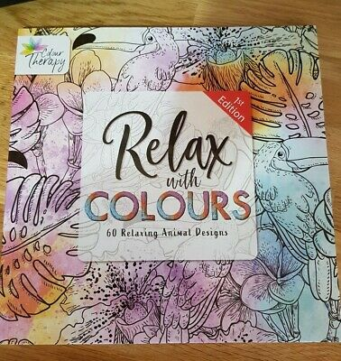Relax with Colour Therapy Adult Colouring Books - Animal Designs