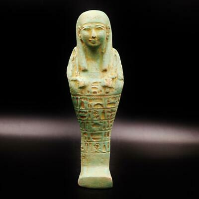 XL_RARE Antique Egyptian Terracotta Ushabti (Shabti) Statue Figure.ANCIENT EGYPT