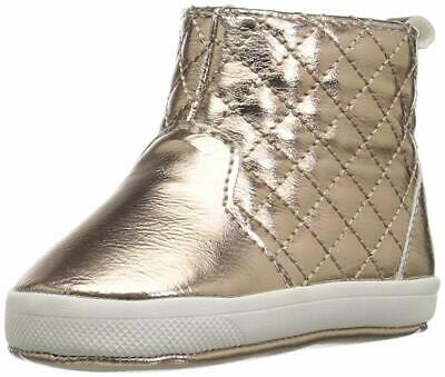 Baby Deer Girl's 02-4846 Ankle Boot, Rose Gold,  Size Infant 1.0