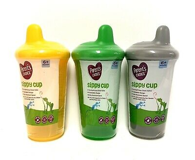 PARENT'S CHOICE SIPPY CUPS Boys/Unisex 3 Pack NEW SEALED