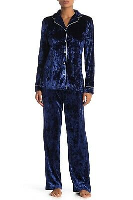 NWT! Tahari Women's Sz XL Velvet Dreams Notch Collar Pajama 2 pcs Set $78
