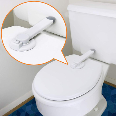 Baby Toilet Seat Locks Safety Adhesive Lid Lock Potty Protect Latches With Arm
