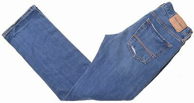 ABERCROMBIE & FITCH Boys Jeans 13-14 Years W28 L29 Blue Cotton Straight  NI11