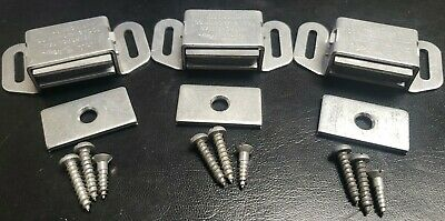 4PK Magnetic Cabinet, Closet, Drawer Door Latch. STRONG Made Proudly in the USA