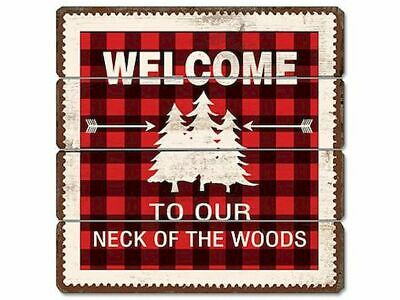 Welcome To Woods Wooden Sign