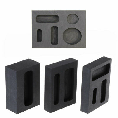 Graphite Crucible Ingot Bar Combo Mold For Silver Gold Melting Casting New