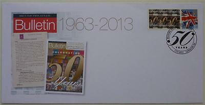 GB - 2013 RM 50 Years Of Britisch Philatelic Bulletin Spezial Fdc. Smiler