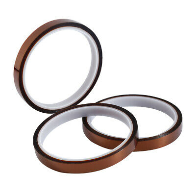 3pcs 100ft 33M High Temperature Heat Resistant Kapton Tape Polyimide BGA Tape