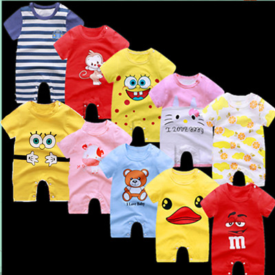 Wow! Newborn Baby Boys Girls Short Sleeve Romper Jumpsuit Summer Clothes Outfits