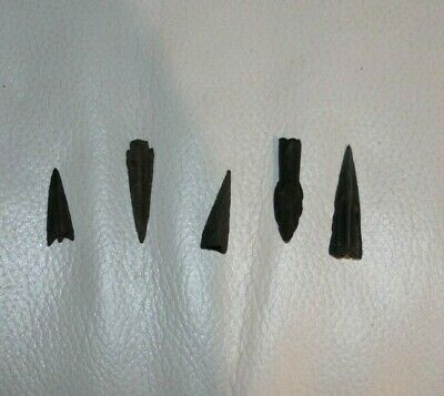 5 Authentic Ancient Greek arrow heads 5-3 BC.