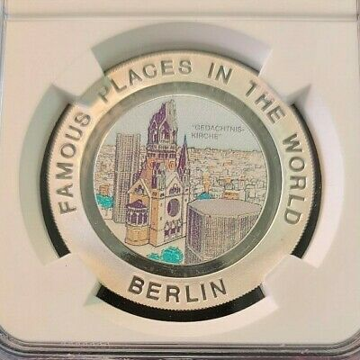 1994 Equatorial Guinea Silver 7000 Francs Famous Places Ngc Pf 67 Ultra Cameo