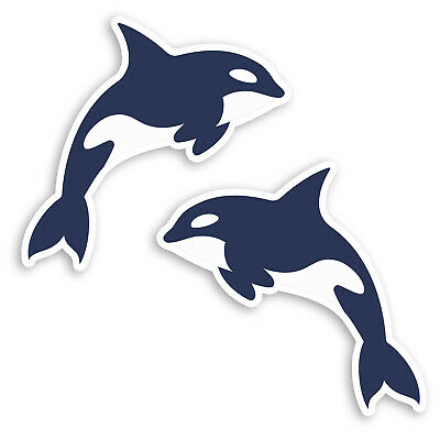 ~ Sparkle Killer Whale Orca Whales Diving Beach Hambly Studio Glitter Stickers ~