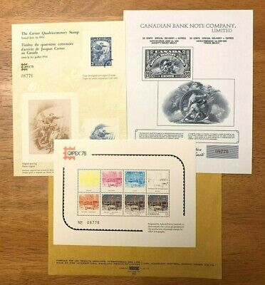 Canada CAPEX 78 Set of 3 Philatelic Exhibition Cards Limited Edition Numbered |