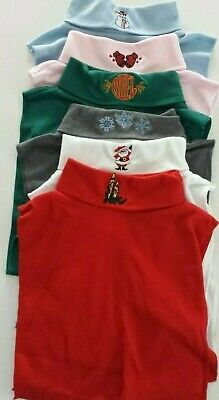 Lot of 6 Christmas Faux Turtleneck Dickies One Sz Holiday Dickey 50/50 Material