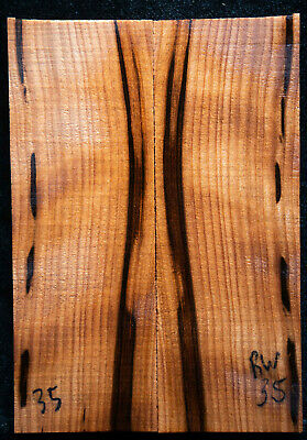"""Curly Redwood #35 Knife Scales 5""""x1.75""""x1/2"""" see 100 species in my store"""