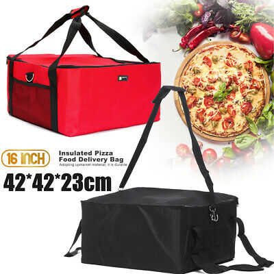 16 Inch Portable Pizza Delivery Bag Holder Insulated Durable Thermal Fresh Food