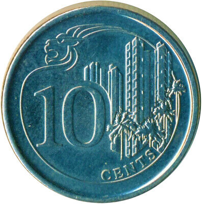 Coin / Singapore / 10 Cents 2013        #Wt12669