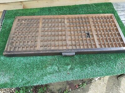 Vintage Letterpress Wooden Printers Tray Upcycle Shelf Draw