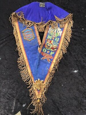 Manchester unity of oddfellows Blue Sash Bullion Thread H.Slingsby Regalia