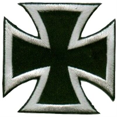 IRON CROSS PATCH EMBROIDERED CROSS HEAT PRESS// IRON ON PATCH AS SHOWN  AP 357