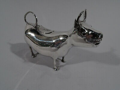 Antique Cow Creamer - Boving Milk Jug - European Silver