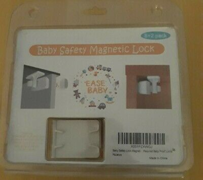 Baby Safety Magnetic Lock, New 8+ 2 Pack, Latch, Key, Lock Adhesive MagneticTape