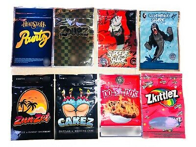 *New* Mylar Bag Designs For Cookies, Candy, Snacks Etc 6In X 4Inch
