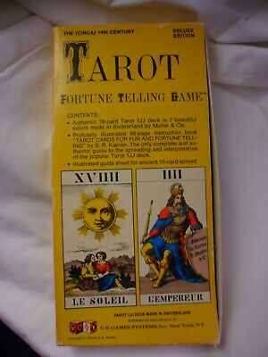 Tarot Cards Tarot Fortune Telling Game Deluxe Edition Vintage 1970 Switzerland