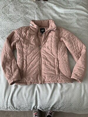 GIRLS DUSKY PINK PUFFA BUBBLE JACKET FROM NEW LOOK AGE 12-13 Concealed Hood